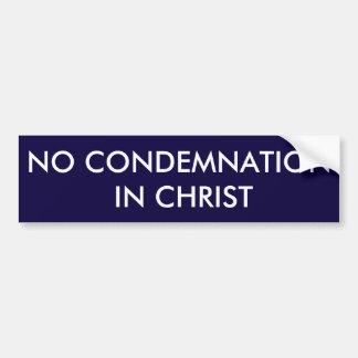 Ninguna condenación en Cristo Bumpersticker Pegatina Para Auto
