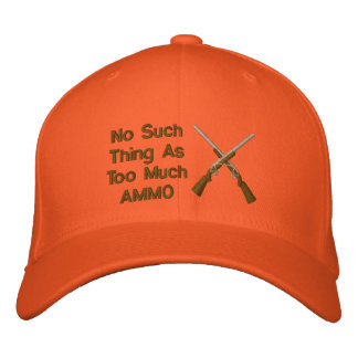 Ninguna cosa tal como demasiada munición gorras de béisbol bordadas