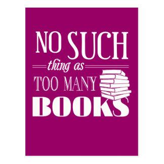 Ninguna cosa tal como demasiados libros postal