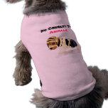 Ninguna crueldad a, camisa del perro de los animal camisetas de mascota