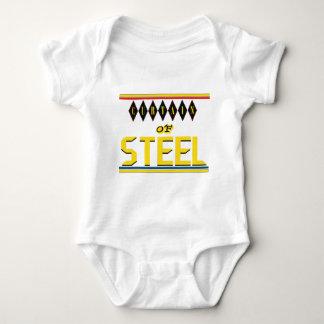 Ninguna del telón de acero camiseta del bebé aquí polera