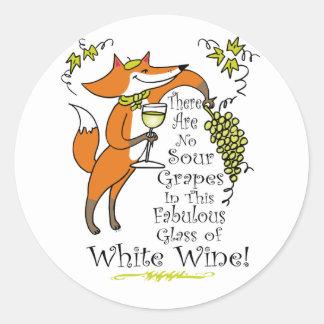Ninguna envidia en este vino blanco fabuloso etiquetas redondas