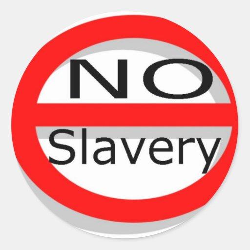 Ninguna esclavitud etiquetas redondas