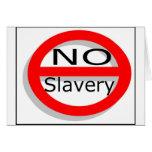 Ninguna esclavitud felicitación
