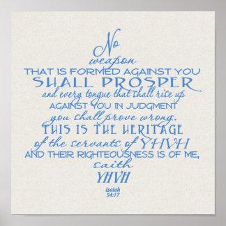 Ninguna estrella del arma del azul de David en mor Póster