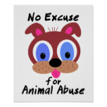 Ninguna excusa para el poster animal del abuso