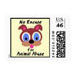 Ninguna excusa para los sellos animales del abuso