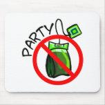 Ninguna fiesta del té anti de la fiesta del té alfombrillas de ratones