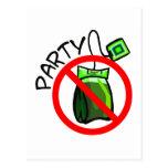 Ninguna fiesta del té anti de la fiesta del té tarjeta postal