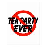 Ninguna fiesta del té SIEMPRE anti de la fiesta Postal