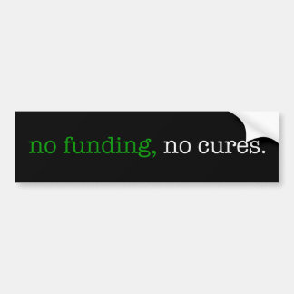 ninguna financiación ningunas curaciones etiqueta de parachoque