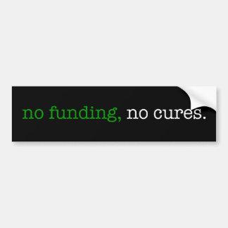 ninguna financiación, ningunas curaciones pegatina para auto