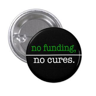 ninguna financiación, ningunas curaciones pin redondo de 1 pulgada
