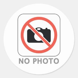 Ninguna foto pegatina redonda