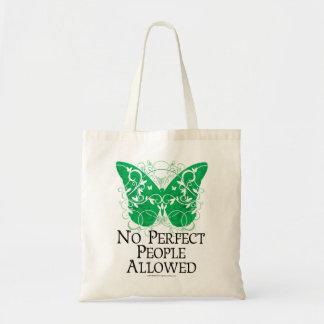 Ninguna gente perfecta permitida bolsas de mano