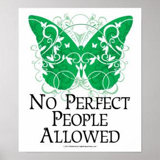 Ninguna gente perfecta permitida impresiones
