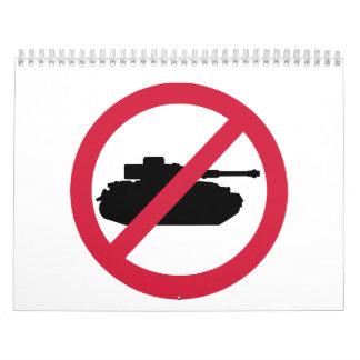Ninguna guerra del tanque calendario