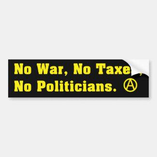 Ninguna guerra grava a políticos pegatina de parachoque