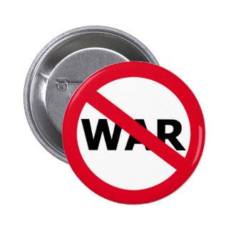 Ninguna guerra pin redondo de 2 pulgadas