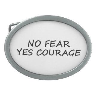 Ninguna hebilla del cinturón del miedo hebillas de cinturón ovales