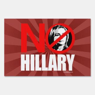 NINGUNA HILLARY - blanco anti del png de Hillary - Cartel