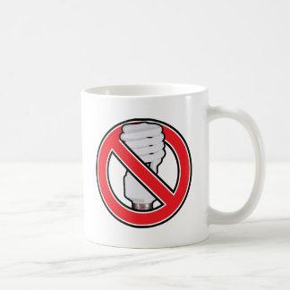 Ninguna iluminación fluorescente tazas de café