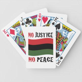 Ninguna justicia baraja de cartas bicycle