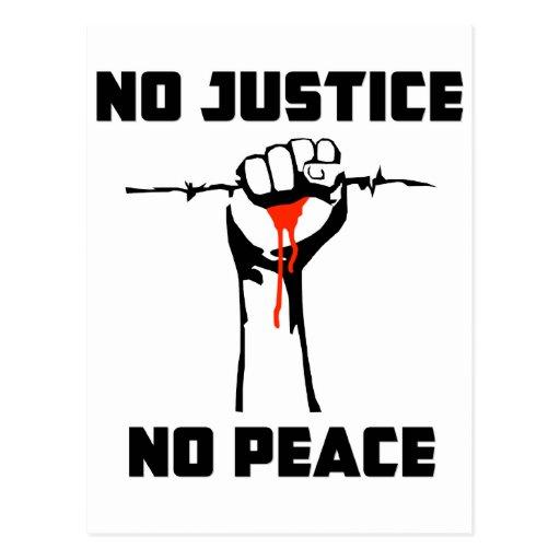 """Ninguna justicia, ninguna paz "" Postales"