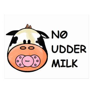 Ninguna leche de la ubre postales