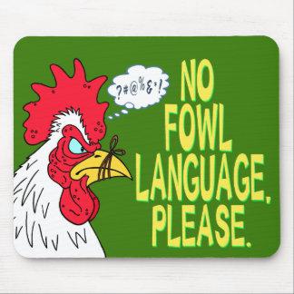 Ninguna lengua de las aves mousepad