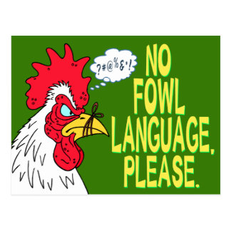 Ninguna lengua de las aves postal