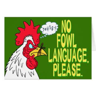 Ninguna lengua de las aves tarjeta de felicitación