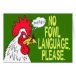 Ninguna lengua de las aves tarjeton