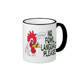 Ninguna lengua de las aves taza de café