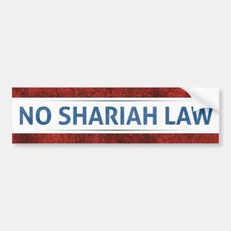 Ninguna ley de Shariah Pegatina Para Auto