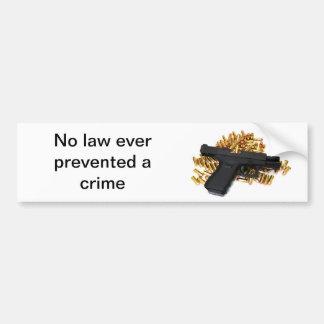 Ninguna ley previno nunca un crimen pegatina para auto
