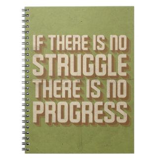 Ninguna lucha ningún cuaderno de motivación del