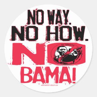 Ninguna manera. Ningún Obama en 2008 Pegatina Redonda