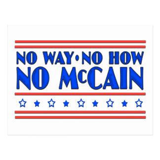 Ninguna manera ninguna cómo ningún McCain Postales