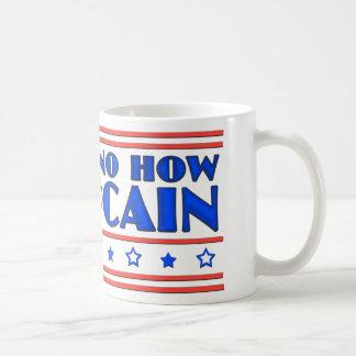 Ninguna manera ninguna cómo ningún McCain Taza Básica Blanca