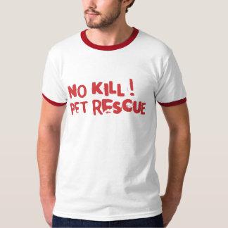 ¡Ninguna matanza! Texto del rojo del rescate del Polera