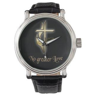 Ninguna mayor cruz del amor relojes de pulsera