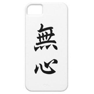 Ninguna mente = 無心, kanji japonés funda para iPhone SE/5/5s