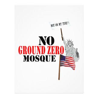 Ninguna mezquita del punto cero flyer personalizado