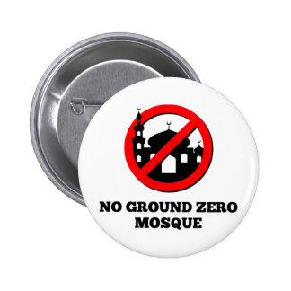 Ninguna mezquita del punto cero pin redondo de 2 pulgadas