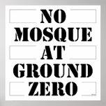 Ninguna mezquita en el punto cero impresiones