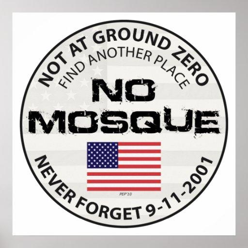 Ninguna mezquita en el punto cero posters