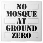 Ninguna mezquita en el punto cero teja  ceramica