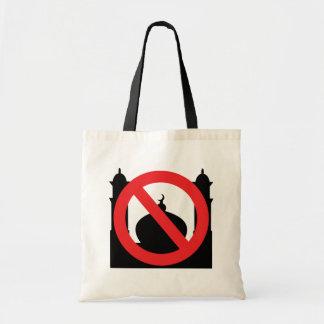 Ninguna mezquita ningún texto bolsa tela barata