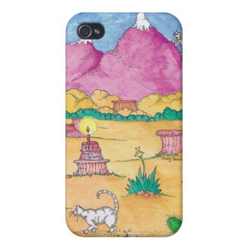Ninguna montaña arriba bastante caso del iPhone iPhone 4 Protector